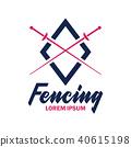 fencing logo, vector illustration 40615198