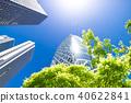 許多綠色辦公室街道風景 40622841