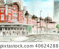 tokyo station, station building, station 40624288