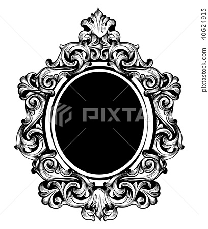 Vintage luxury mirror frame Vector. Baroque 40624915