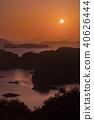 구주 쿠시마의 석양 40626444