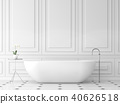 Modern classic bath room 3d render 40626518