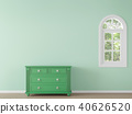 Modern classic room with green color 3d render 40626520