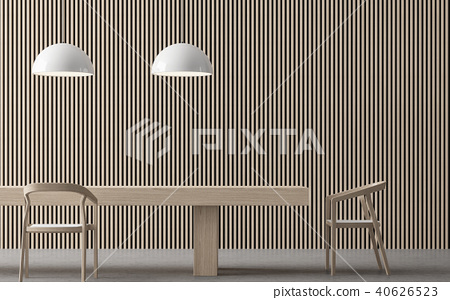 Modern contemporary dining room interior 3d render 40626523