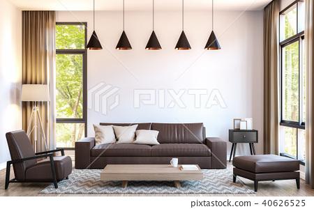 Modern living room 3d render 40626525