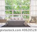 Modern white bedroom 3d render 40626528