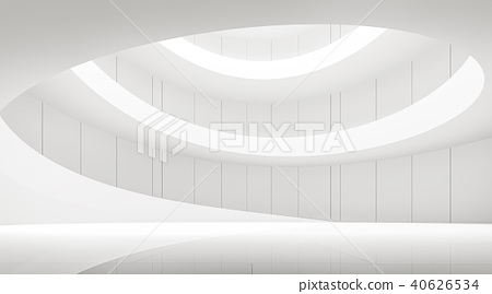 Empty white room modern space 3d render 40626534