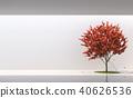 Minimal style garden in modern space 3d render 40626536
