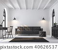 Scandinavian living room 3d render 40626537