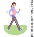 산책하는 여성 40626668