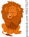 funny lion cartoon wild animal character 40627627