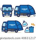 รถทำงานขยะมูลฝอย (สีน้ำเงิน) 40631217