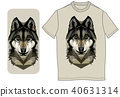 Wolf head on a smart phone case 40631314