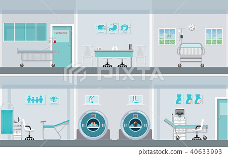 Interior operation room with equipment in hospital 40633993
