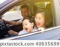 Happy Asian family is travelling on the road trip 40635699