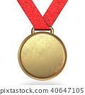 3d, gold, medal 40647105