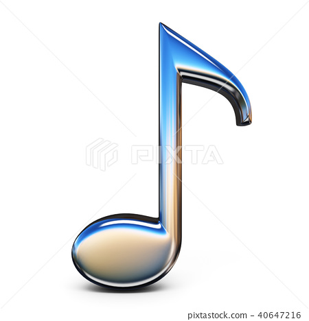 Music sign eighth note 3D - Stock Illustration [40647216] - PIXTA