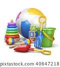 Colorful kids toys concept 3D 40647218