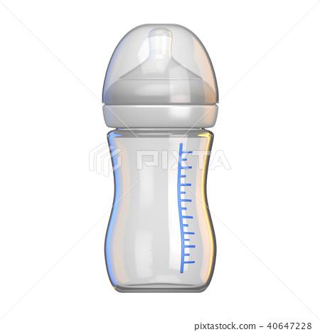 Baby bottle empty closed 3D 40647228