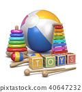 Kids toys concept 3D 40647232
