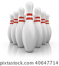 Bowling pins with red stripes 40647714