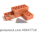 Concept of building the brick wall 40647716