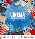 movie, cinema, vector 40647961