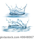 water, splash, set 40648067