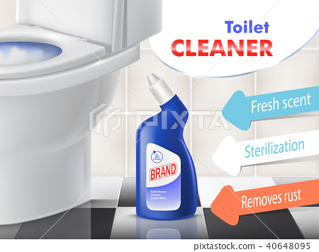 Vector promotion banner of toilet cleaner 40648095