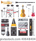 Vector set with musical live instruments 40648404