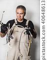 worker specialist plumber, engineer or constructor 40648613