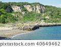 사누키 히로시마의 채석장과 바닷가의 경치 40649462