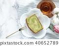 녹차 맛 파운드 케이크 40652789
