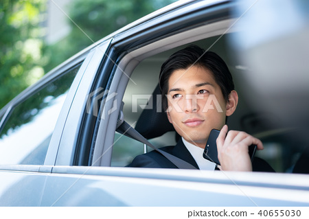 Car phone outsider business man 40655030