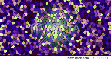 Green leaf image that stained glass light injects 40656074