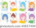 Adult / woman / 8 people _ mirror / surprise / multifocal 40657494