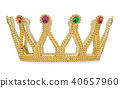 Gold crown isolated is on white background 40657960