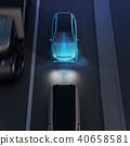 應用自動制動以避免追尾事故的插圖。汽車製動概念 40658581