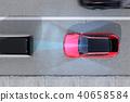 應用自動制動以避免追尾事故的插圖。汽車製動概念 40658584