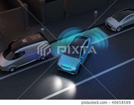 SUV平行停車與夜間自動停車駕駛支持系統。 40658589