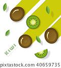 fruit green kiwi 40659735