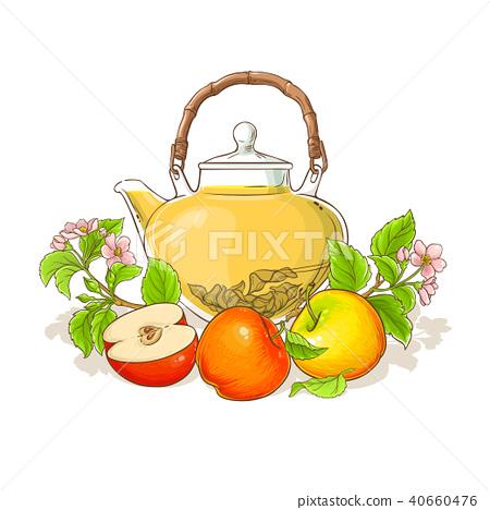apple tea illustration 40660476