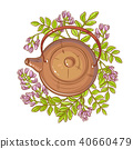 astragalus tea in teapot 40660479