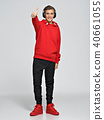 boy, sneakers, red 40661055