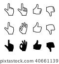 hand, icon, icons 40661139