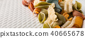 raw spelt flour assorted colorful pasta 40665678