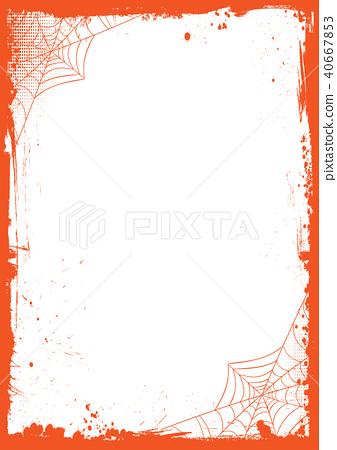 halloween banner background with grunge border stock illustration