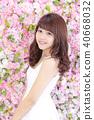 年轻女士的发型 40668032