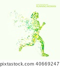 Abstract fitness background. 40669247
