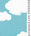 배경 - 여름 - 구름 40669268